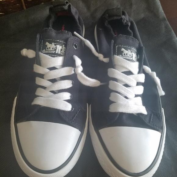 e66c0038 Levi's Shoes   Levis Womens Stan G Black Sneakers Comfort Tech ...